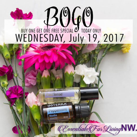 BOGO Wednesday - July 19, 2017 - Buy a peppermint 15ml and get a 10ml PastTense Rollon!